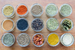 Spices. A variety of different spices royalty free stock photography