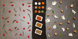 Spices and vegetable for healthy and cooking. Stock Image