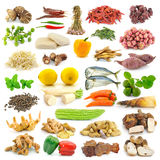 Spices and vegetables collection Stock Photos
