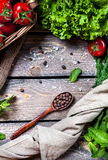 Spices and vegetables Royalty Free Stock Photography