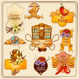 Spices Vintage Labels Royalty Free Stock Images