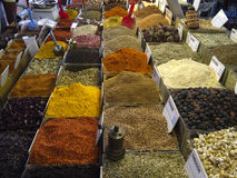 Spices. At the weekly market in Bodrum stock image