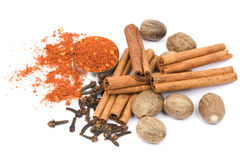 Spices on white Royalty Free Stock Images