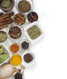 Spices with white background Stock Photo