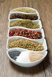Spices in white box Royalty Free Stock Photo