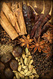 Spices on Wood Royalty Free Stock Photo