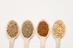Spices with wood spoon Royalty Free Stock Image