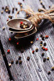 Spices on wood table. Stock Images