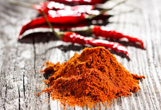Spices on wooden table Stock Image