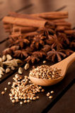 Spices on a wooden table Stock Image