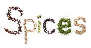 The Spices word Stock Images