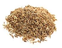 Spices zira background. Spices zira on white background Stock Photo