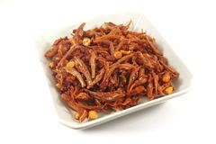 Spicy Asian Cuisine Anchovies Dish Royalty Free Stock Images