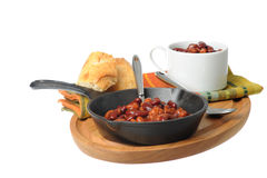 Spicy Baked Beans Royalty Free Stock Photos