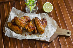 Spicy baked chicken wings Stock Image