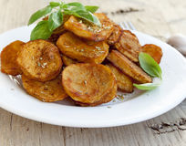 Spicy baked potatoes Royalty Free Stock Photo