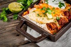 Spicy beef enchiladas Royalty Free Stock Photos