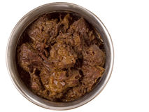 Spicy beef rendang isolated Royalty Free Stock Photo