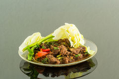 Spicy beef salad Stock Images