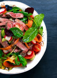 Spicy Beef Slices Meat Salad with vegetables Stock Photography