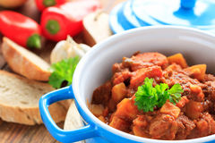 Spicy beef stew Royalty Free Stock Photo