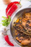 Spicy belly pork Stock Photo