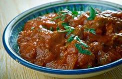 Spicy Bengali Mutton Curry. Kosha Mangsho -  Spicy Bengali Mutton Curry Stock Images