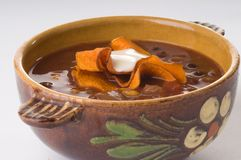 Spicy Black Bean Soup Royalty Free Stock Image