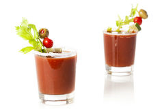 Spicy Bloody Mary Alcoholic Drink Stock Images