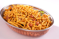 Spicy Bombay Mixture from India Royalty Free Stock Photo