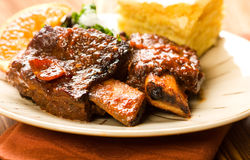 Spicy Braised Beef Ribs stock image