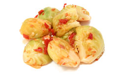 Spicy Brussels Sprouts Royalty Free Stock Photography