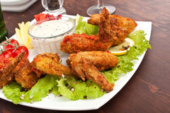 Spicy Buffalo Chicken Wings Royalty Free Stock Photo