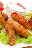 Spicy Buffalo Chicken Wings Stock Photography