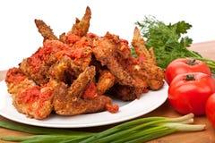 Spicy Buffalo Chicken Wings Stock Photos