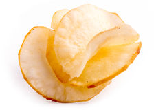 Spicy cassava chips on white background Royalty Free Stock Images