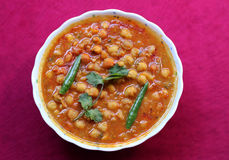 Spicy chana masala curry Stock Images