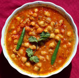 Spicy chana masala - white chickpea Stock Photos