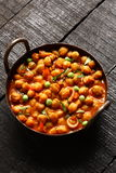 Spicy chick peas Chola Masala Royalty Free Stock Photography