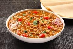 spicy chick peas Chola Masala Royalty Free Stock Photo
