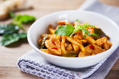Spicy chicken with bamboo shoots Stock Photo