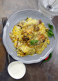 Spicy Chicken Biryani Royalty Free Stock Photography