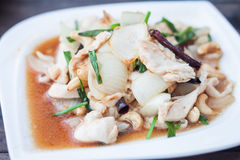 Spicy chicken with cashew nuts Stock Photo