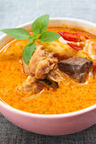 Spicy chicken curry with bamboo shoots. Stock Photo