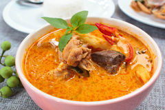 Spicy Chicken Curry With Bamboo Shoots. Stock Image