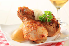 Spicy chicken drumsticks Royalty Free Stock Photography