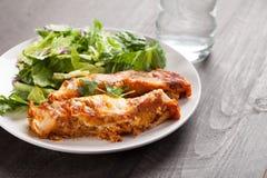 Spicy Chicken Enchiladas horizontal shot Royalty Free Stock Images