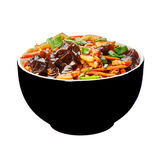 Spicy chicken on the hot plate.asian food Royalty Free Stock Image