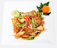 Spicy chicken noodles Royalty Free Stock Photos