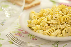 Spicy chicken pasta Royalty Free Stock Images